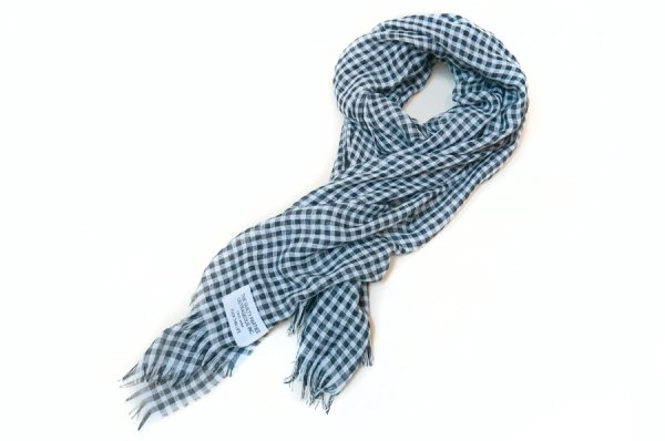 画像1: WACKOMARIA /  GINGHAM CHECK STOLE (BLACK)