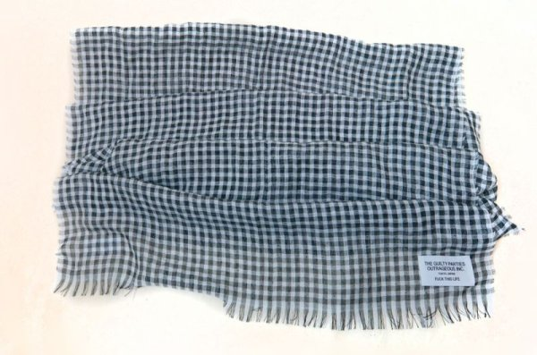 画像4: WACKOMARIA /  GINGHAM CHECK STOLE (BLACK)