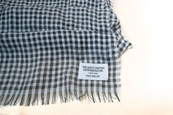 画像3: WACKOMARIA /  GINGHAM CHECK STOLE (BLACK)