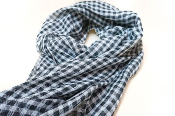 画像2: WACKOMARIA /  GINGHAM CHECK STOLE (BLACK)