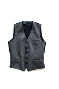 千鳥格子vest  (BK CHE)
