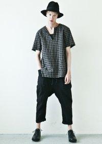 KAZUYUKIKUMAGAI Li / Co ブロックチェックプルオーバーシャツ