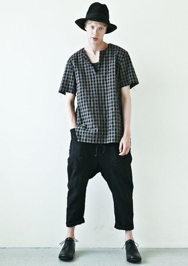画像1: KAZUYUKIKUMAGAI Li / Co ブロックチェックプルオーバーシャツ