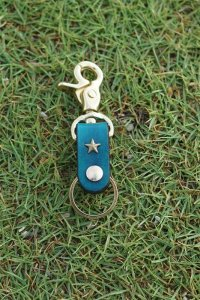 one star shinning / key holder / one star (blue)