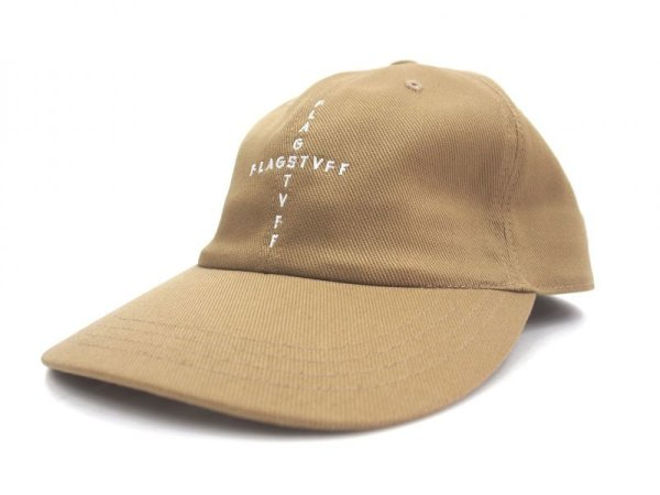 "画像1: FLAGSTUFF COTTON CAP""CROSS LOGO"" CAP BEIGE"