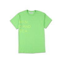 WIND & SEA WIND AND SEA CLASSIC logo TEE lime