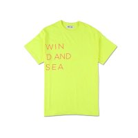 WIND & SEA WIND AND SEA CLASSIC logo TEE yellow
