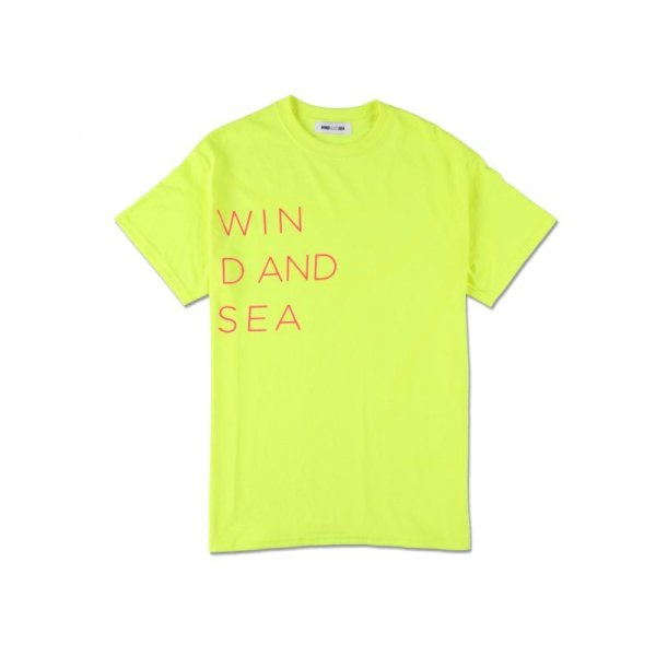 画像1: WIND & SEA WIND AND SEA CLASSIC logo TEE yellow