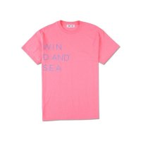 WIND & SEA WIND AND SEA CLASSIC logo TEE pink