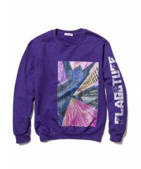 "F-LAGSTUF-F ""Continually"" SWEAT /  PURPLE"
