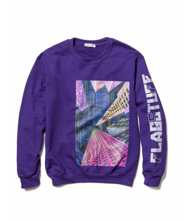 "画像1: F-LAGSTUF-F ""Continually"" SWEAT /  PURPLE"