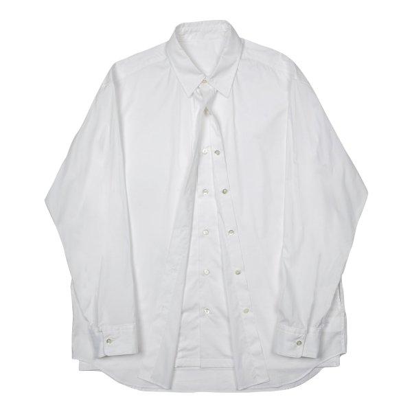 画像1: N'HOOLYWOOD w SHIRT white