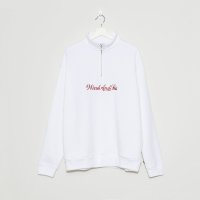 WIN&SEA  HALF ZIP SWEAT SHIRT -white-