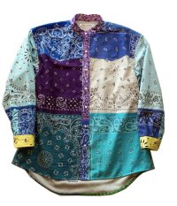CHILDREN OF THE  DISCORDANCE VINTAGE BANDANA PATCHWORK SHIRT MIX