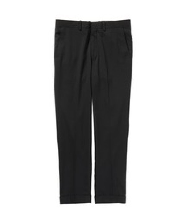 画像1: N.HOOLYWOOD SLIM TAPERED SLACKS black
