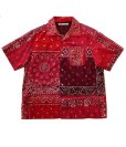 画像1: Children of the discordance    VINTAGE BANDANA PATCHWORK SHIRT SS (1)