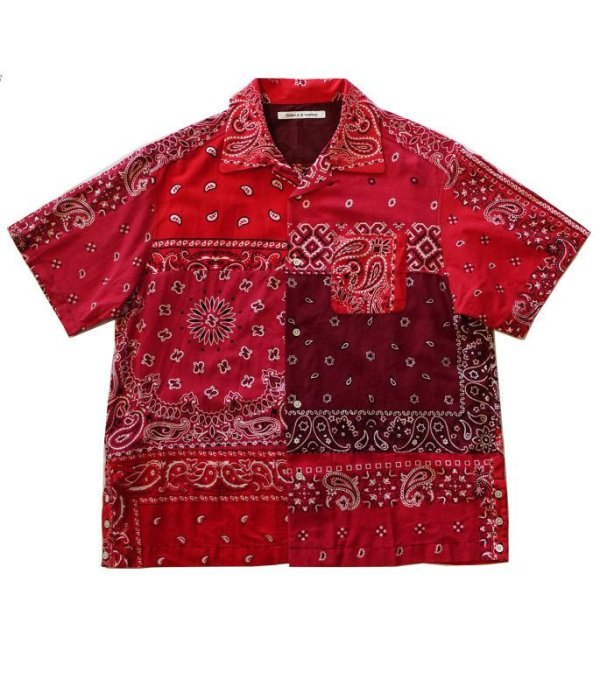 画像1: Children of the discordance    VINTAGE BANDANA PATCHWORK SHIRT SS