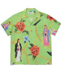WACKOMARIA CHAINS MARIA HAWAIIAN SHIRT S/S ( TYPE-3 ) / grn