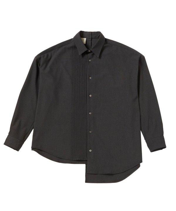 画像1: N'HOOLYWOOD PLEATED DRESS SHIRT