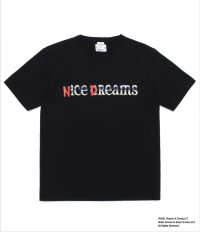 WACKOMAIA NICE DREAMS / WASHED HEAVY WEIGHT T-SHIRT TYPE-4 / black