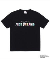 WACKOMAIA NICE DREAMS / WASHED HEAVY WEIGHT T-SHIRT TYPE-3 / black