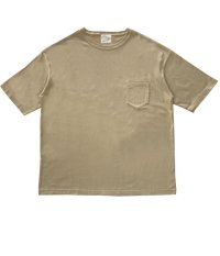 STAY STRONG BIG シルエットTシャツ / 胸ポケ / SAND BEIGE