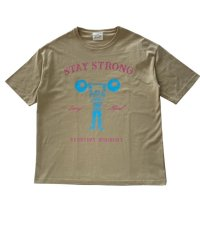 STAY STRONG BIG シルエットTシャツ / ポケなし / SAND BEGE