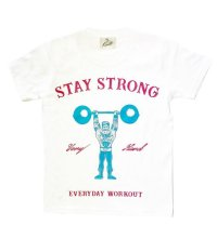 STAY STRONG BOYS T-sh / white
