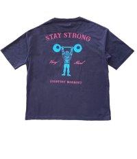 STAY STRONG BIG シルエットTシャツ / 胸ポケ / NAVY