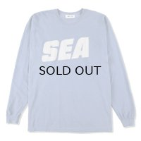 WIND AND  SEA (sea-alive) L/S T-SHIRT / blue