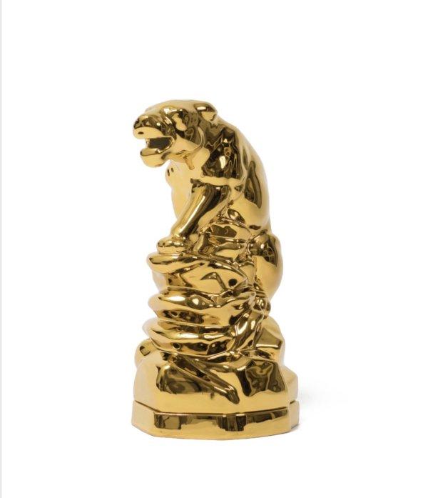 画像1: WACKOMARIA PANTHER INCENSE BURNER  / gold